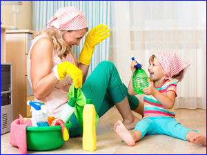 уборка квартиры с ребенком весело