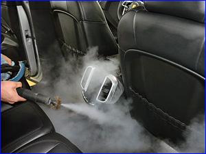 Химчистка салона в автомобиле из кожи