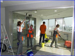 Уборка офиса и мойка стекла в офисе и коммерческом здании