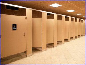 Уборка общественных туалетов в офисном здании