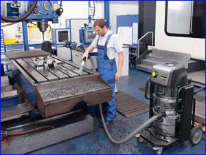 Уборка на рабочем месте на заводе и фабрике