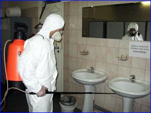 Обработка туалета и ванной комнаты от тараканов