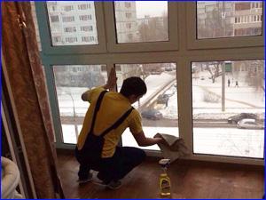 Мытье окон в квартире профессиональной компанией