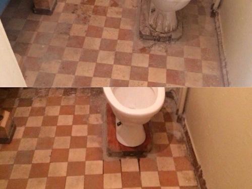 Уборка туалета клининговой компанией ДО и ПОСЛЕ